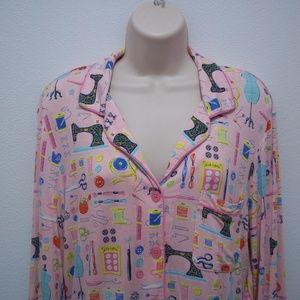 0582c8b046 Nick   Nora Intimates   Sleepwear - Nick Nora Pajamas Pink Sewing Machine  Scissors